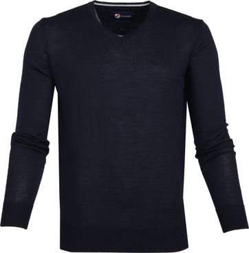 Suitable Merino Pullover Navy