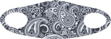 Suitable Mouth Mask Print Paisley