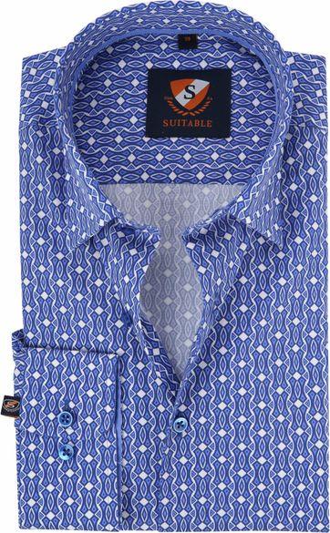 Suitable Overhemd HBD Blauw