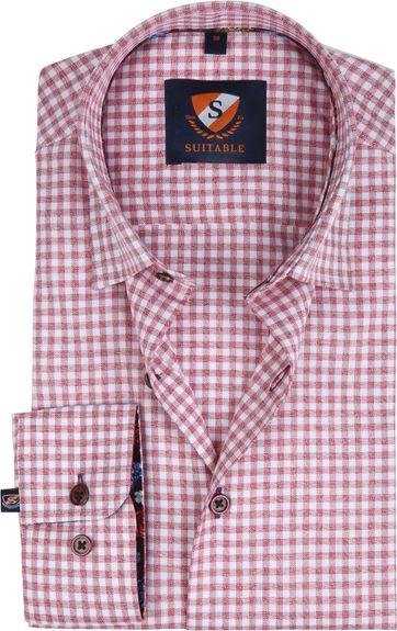 Suitable Overhemd HBD Bordeaux Checks