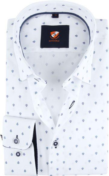 Suitable Overhemd HBD Franse Lelie Wit