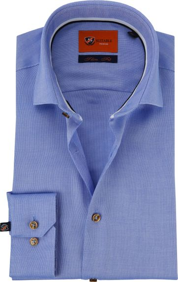 Suitable Overhemd Oxford Roy Blauw