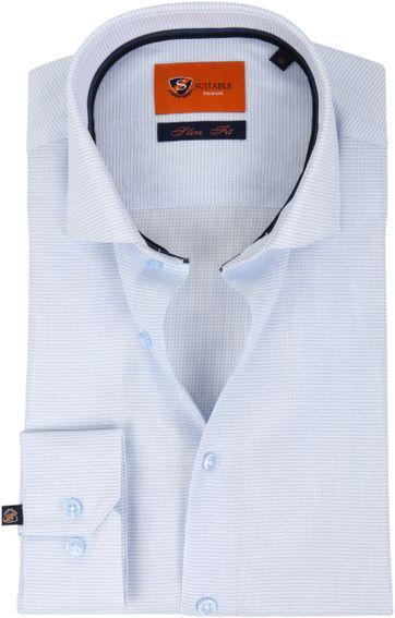 Suitable Overhemd Ruit Blauw D81-07