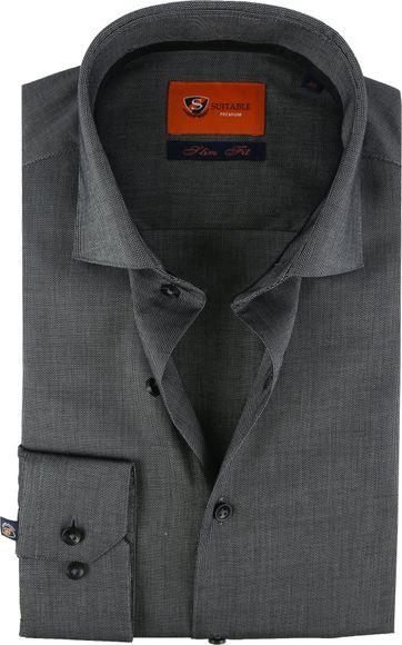 Suitable Overhemd SF Antraciet