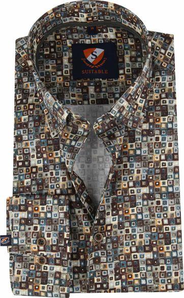 Suitable Overhemd SF Dessin