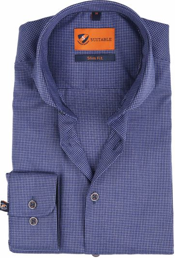 Suitable Overhemd SF Mouline Navy