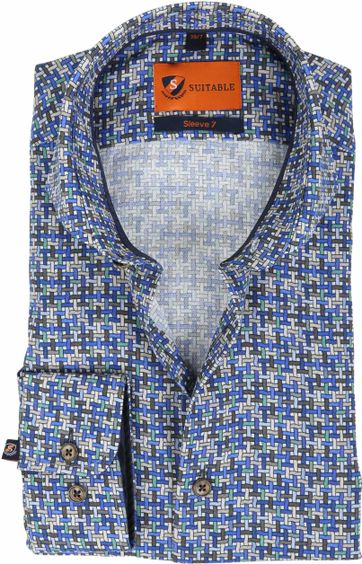 Suitable Overhemd SL7 Print 180-5
