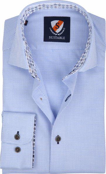 Suitable Overhemd Wesley Lichtblauw