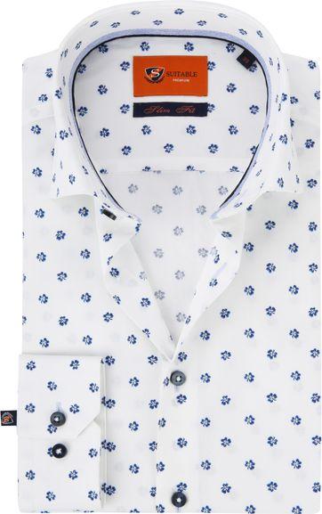 Suitable Overhemd WS Klaver Wit