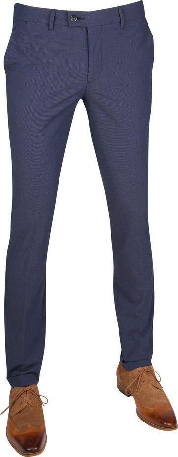 Suitable Pantalon Pisa Dessin Blauw