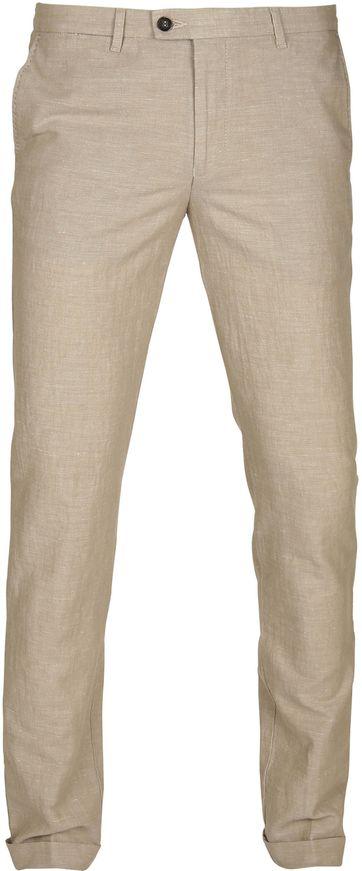 Suitable Pantalon Pisa Linen Camel