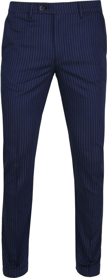 Suitable Pantalon Pisa Stripes Navy
