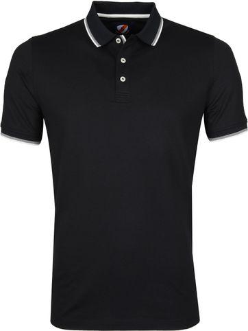 Suitable Poloshirt Black Stretch
