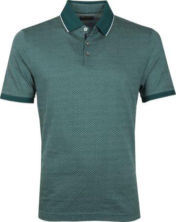 Suitable Poloshirt Jacque Donkergroen