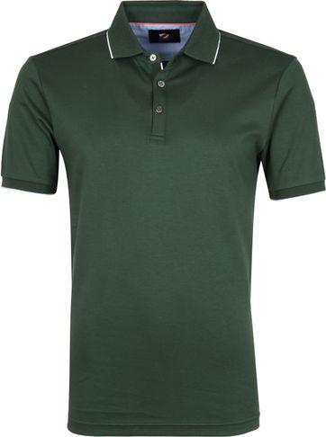 Suitable Poloshirt Liquid Dunkelgrün