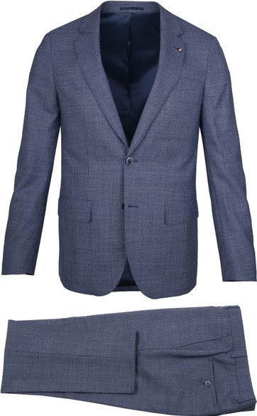 Suitable Prestige Kostuum Faux Ruiten Blauw