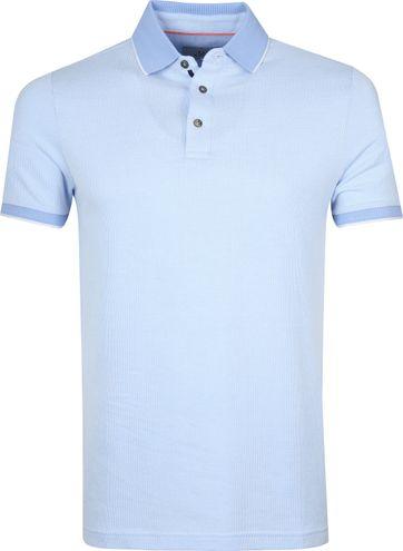 Suitable Prestige Poloshirt Melange Lichtblauw