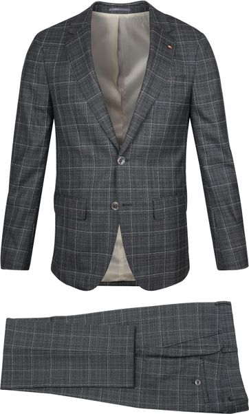 Suitable Prestige Suit Checks Grey