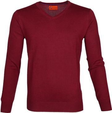 Suitable Pullover Aron Merino Red