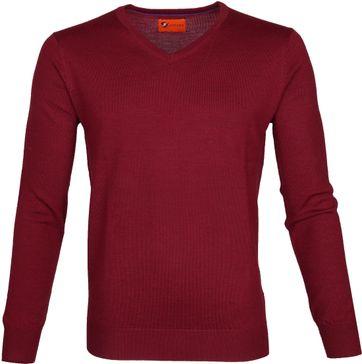 Suitable Pullover Aron Merino Rood