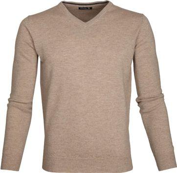 Suitable Pullover Lammwolle V-Ausschnitt Beige