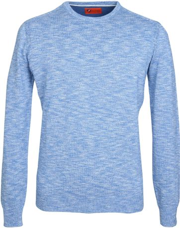 Suitable Pullover Melange Blauw