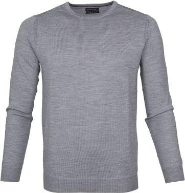 Suitable Pullover Merino Rick Grijs
