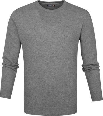 Suitable Pullover O-Hals Lamswol Grijs