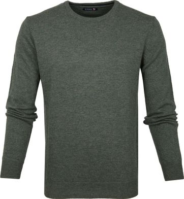 Suitable Pullover O-Neck Lambswool Dark Green