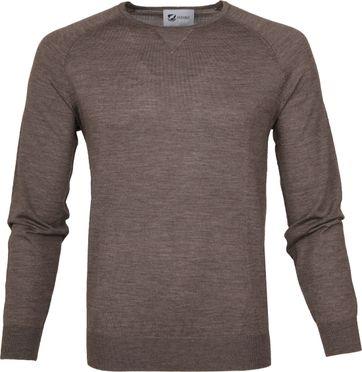 Suitable Pullover Prestige Merino Light Brown
