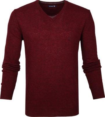 Suitable Pullover V-Hals Lamswol Bordeaux