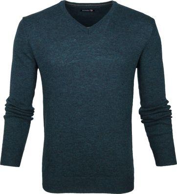 Suitable Pullover V-Hals Lamswol Groen