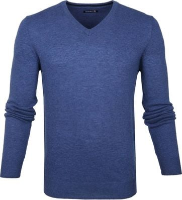 Suitable Pullover V-Neck Lambswool Blue
