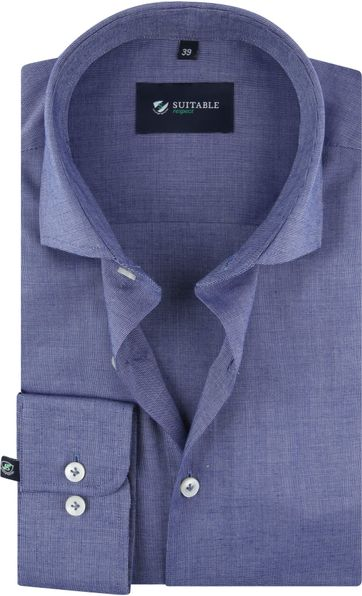 Suitable Respect Overhemd Donkerblauw