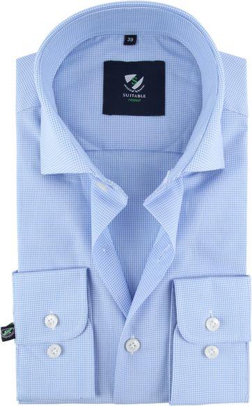 Suitable Respect Overhemd Ruit Blauw