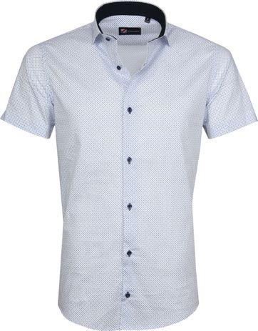 Suitable Shirt Carre White Blue