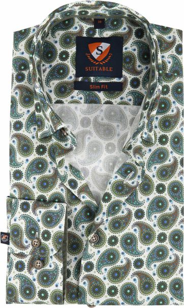 Suitable Shirt HBD Paisley Green