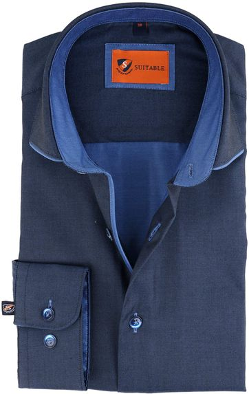 Suitable Shirt Navy Twill