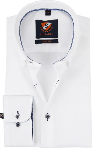 Suitable Shirt Oxford HBD White