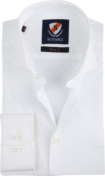 Suitable Shirt Skinny Fit White