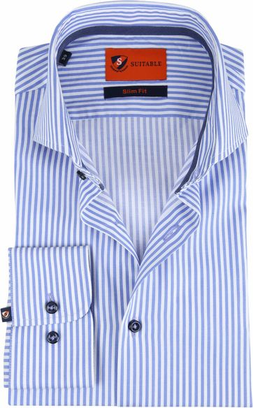 Suitable Shirt Wesley Stripes Blue