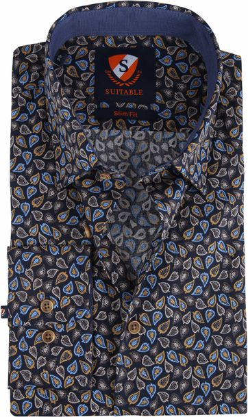 Suitable Shirt Willem Leafs Caramel