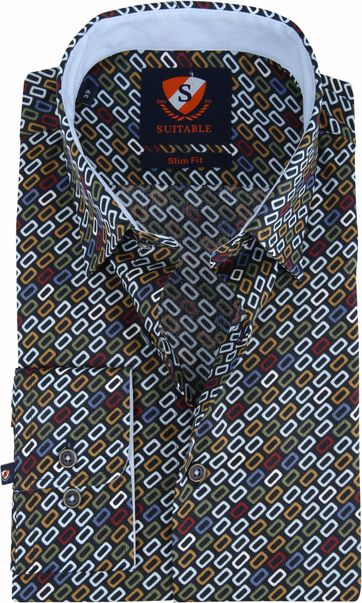 Suitable Shirt Willem Retro Multicolour