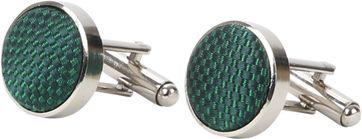 Suitable Silk Cufflinks Green