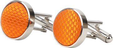 Suitable Silk Cufflinks Orange