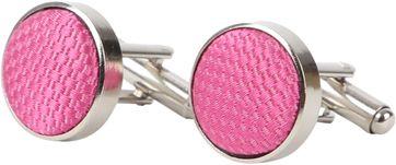Suitable Silk Cufflinks Pink