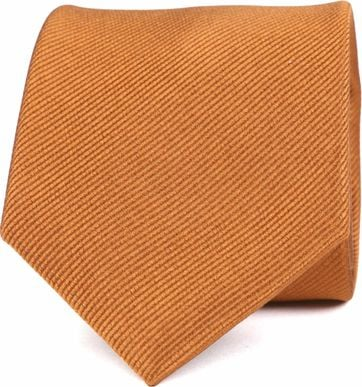 Suitable Silk Tie Cognac F12