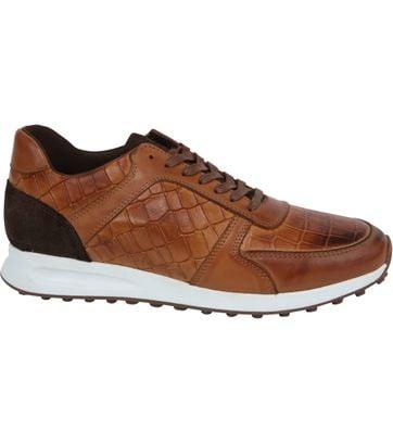 Suitable Sneaker Run Croco Bruin
