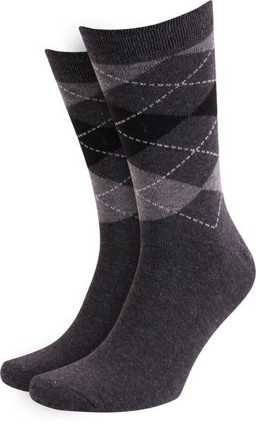 Suitable Socken Kariert Dunker Grau
