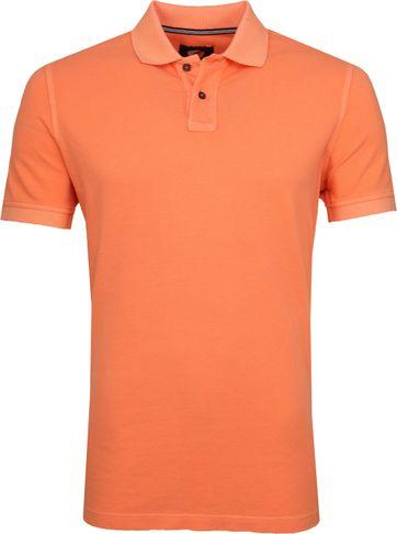 Suitable Stone Wash Poloshirt Orange